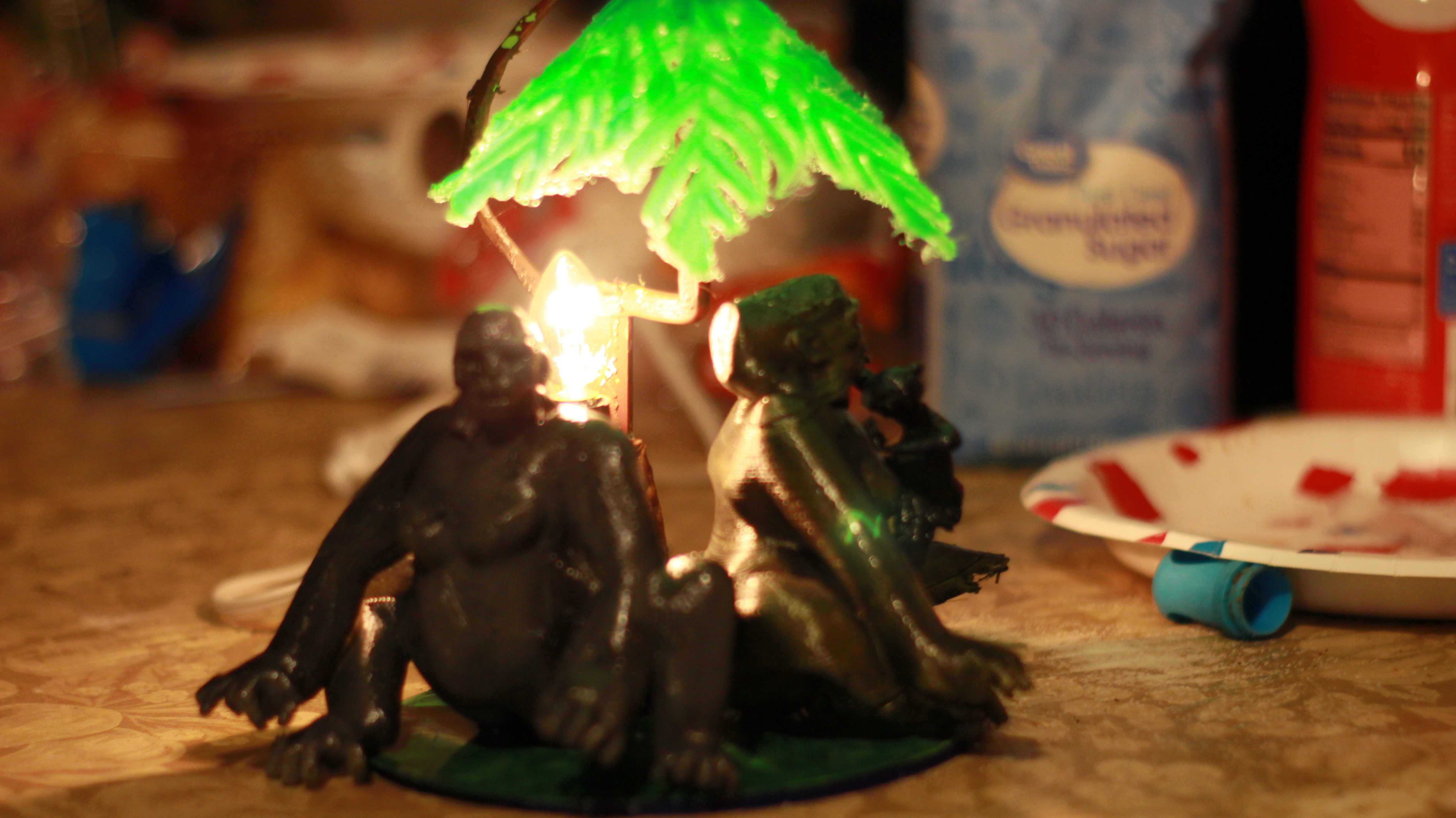 IMG_4064.JPG Download OBJ file Gorilla lamp • 3D printing template, swivaller