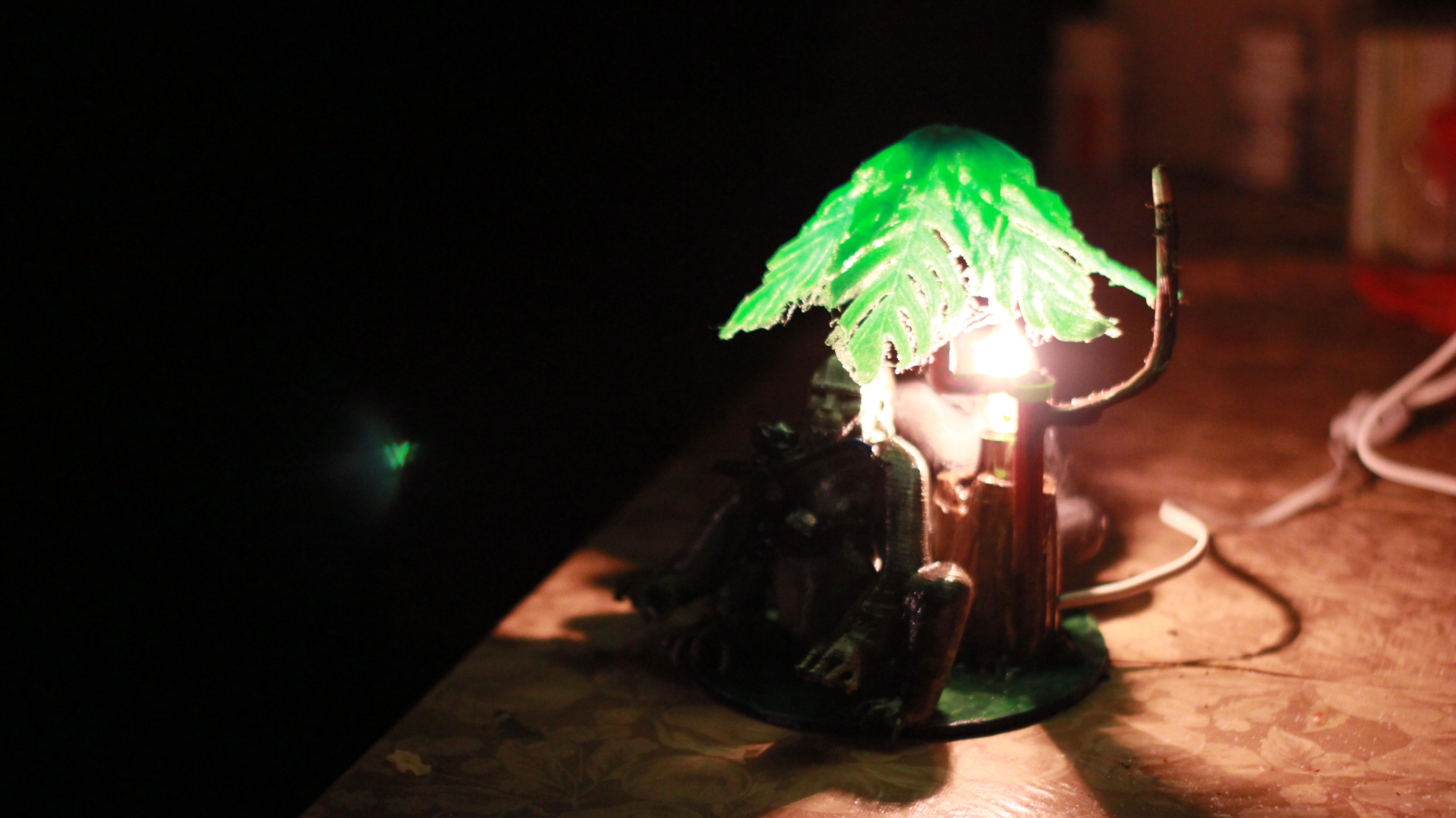 IMG_4053.JPG Download OBJ file Gorilla lamp • 3D printing template, swivaller