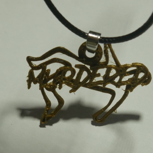 Download free STL file murder chock line necklace pendant • 3D print object, swivaller