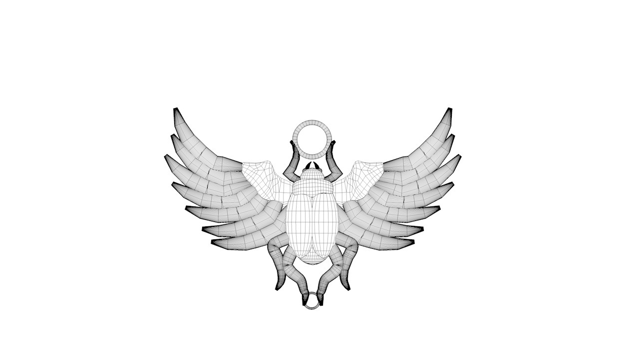 EGYPTION SCARAB 5.jpg Download STL file Egyption Scarab • 3D printing design, swivaller