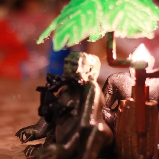 IMG_4061.JPG Download OBJ file Gorilla lamp • 3D printing template, swivaller