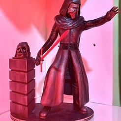 Download 3D printing designs Kylo Ren 3D Printing Figurine Assembly 3D model, juancvelez89