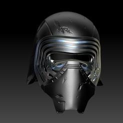 ZBrush Document.jpg Download STL file Kylo Ren Helmet • Object to 3D print, juancvelez89