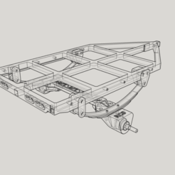c1.png Download STL file trailer chassis (C1 chassis, chassis only) • 3D printer object, Collins