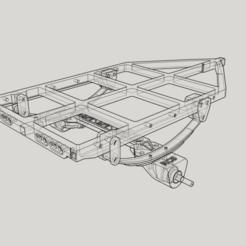 c1.png Télécharger fichier STL châssis de remorque (châssis C1, châssis uniquement) • Plan à imprimer en 3D, Collins