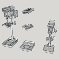 drill1.png Télécharger fichier STL Accessoire à l'échelle 1/10 - PRESSE DE FORAGE • Objet pour imprimante 3D, Collins