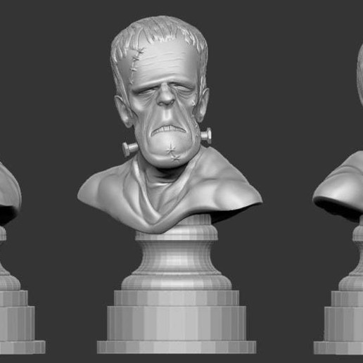 Download free 3D printing files Misc. - Frankenstein Bust (Halloween 2016), whackolantern