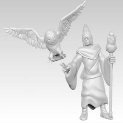 disciple.png Download free STL file Miniature - Owl Disciple (2017) • 3D printing object, whackolantern