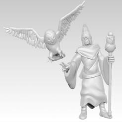 Descargar archivo 3D gratis Miniatura - Búho Discípulo (2017), whackolantern