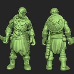 9d6089dabad7d2ae0d9d78a05102e924_display_large.jpg Download free STL file Miniature - Human Soldier 1 (2017) • 3D printer design, whackolantern