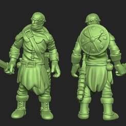 Descargar archivos 3D gratis Miniatura - Soldado humano 1 (2017), whackolantern