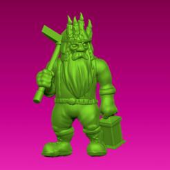 Download free 3D printer templates Miniature - Dwarf Miner (2017), whackolantern