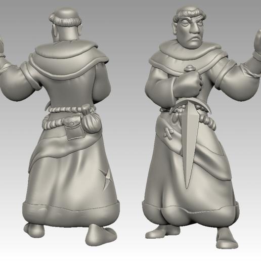 friar4.png Download free STL file Miniature - Battle Friar • 3D printing design, whackolantern