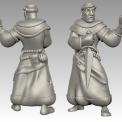 Download free STL files Miniature - Battle Friar, whackolantern