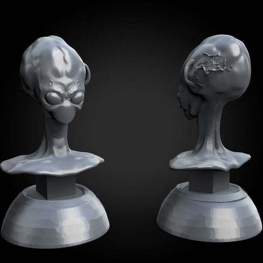 c9df92866dc775a238ccbdc47fd99339_display_large.jpg Download free STL file Misc. - Alien Bust (2016) • 3D print model, whackolantern