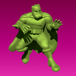 batman.png Download free STL file Miniature - Batman (The Dark Knight Returns) • 3D printable object, whackolantern