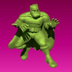 batman.png Télécharger fichier STL gratuit Miniature - Batman (Le Chevalier noir revient) • Plan pour impression 3D, whackolantern