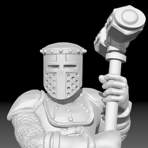 Knight_2_2.png Download free STL file Miniature - Knight 2 (2017) • 3D printer model, whackolantern