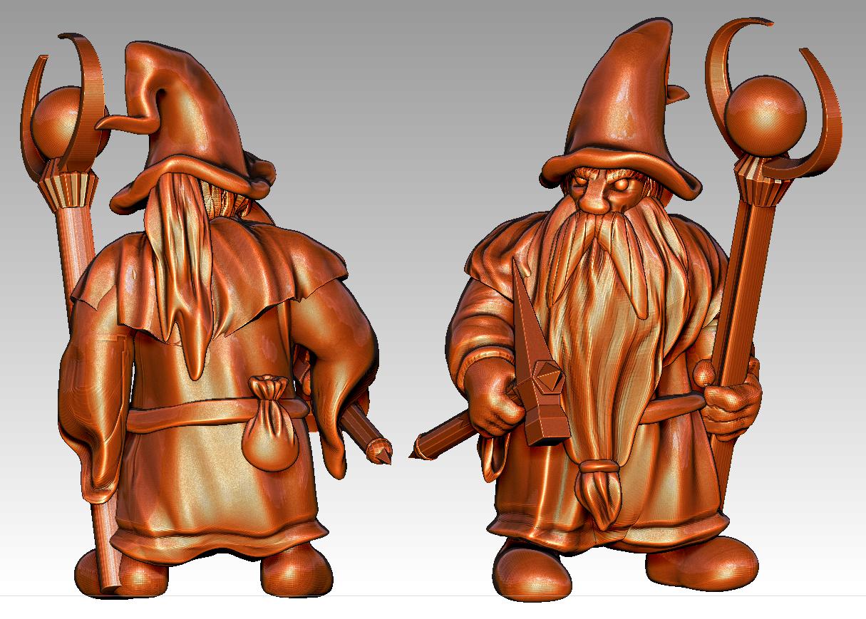 dwarf_wizard.png Télécharger fichier STL gratuit Mignonnette - Dwarf Wizard (2017) • Design pour imprimante 3D, whackolantern