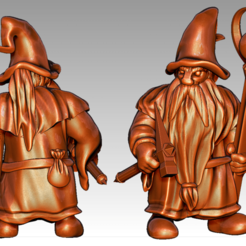 Download free STL files Miniature - Dwarf Wizard (2017), whackolantern
