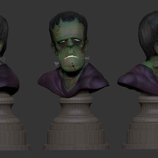 46ff54f168c4aede9fce3d0e47a63de3_display_large.jpg Download free STL file Misc. - Frankenstein Bust (Halloween 2016) • 3D printer design, whackolantern