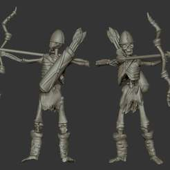 Download free 3D model Miniature - Skeleton Archer Miniature (Heroic Scale) (2016), whackolantern