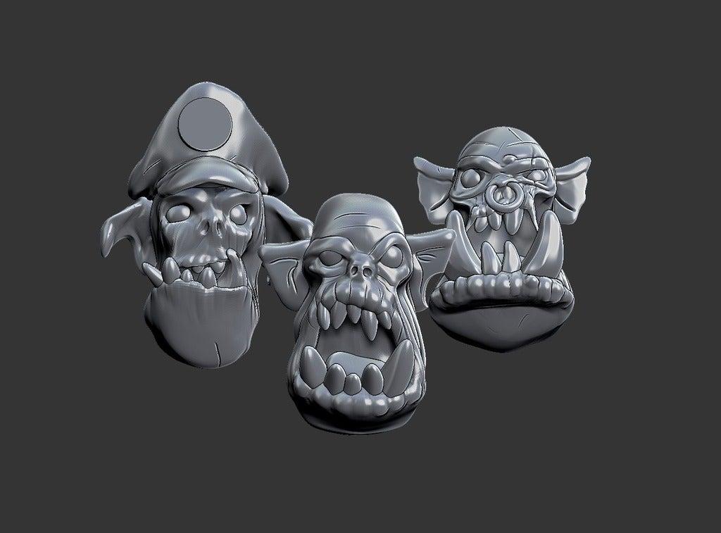de9df845745c7df623a3fea2e99ec206_display_large.jpg Download free STL file Miniature - Ork Heads (Heroic Scale) (2016) • 3D printing object, whackolantern