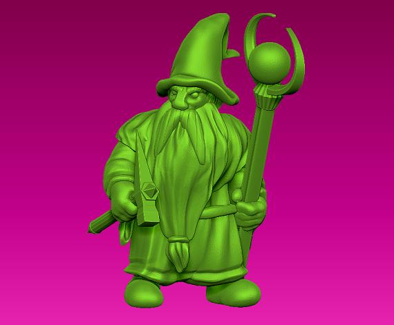 wizard.png Télécharger fichier STL gratuit Mignonnette - Dwarf Wizard (2017) • Design pour imprimante 3D, whackolantern