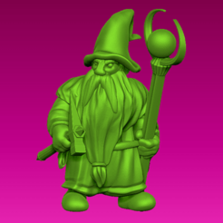 wizard.png Download free STL file Miniature - Dwarf Wizard (2017) • 3D printable model, whackolantern