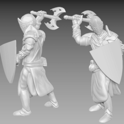 knight_1.png Download free STL file Miniature - Knight 1 (2017) • 3D print model, whackolantern