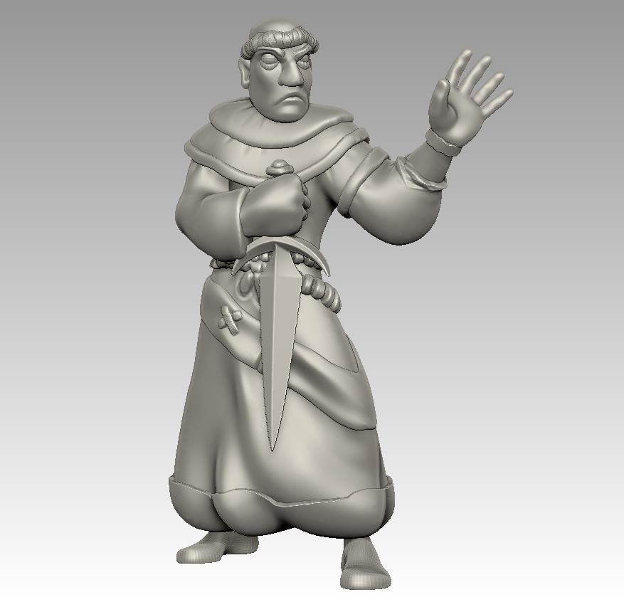 friar1.png Download free STL file Miniature - Battle Friar • 3D printing design, whackolantern