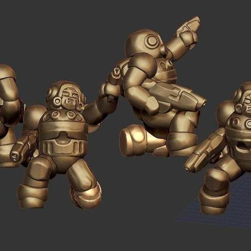 Download free 3D printer designs Miniature - Modular Mercenary Trooper REMIX (18mm scale) (2016), whackolantern