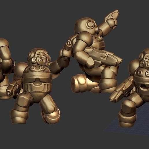 Télécharger fichier STL gratuit Miniature - Soldat mercenaire modulaire REMIX (échelle 18mm) (2016) • Plan à imprimer en 3D, whackolantern