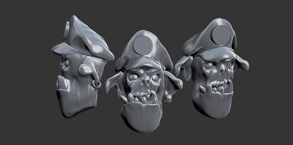 4286c8b3450de384838b824996ab160b_display_large.jpg Download free STL file Miniature - Ork Heads (Heroic Scale) (2016) • 3D printing object, whackolantern
