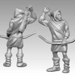 Download free 3D print files Miniature - Human Archer 2 (2017), whackolantern