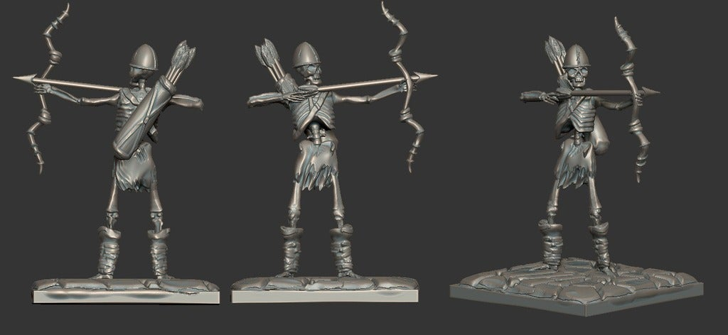 4a47a0db6e60853dedfcfdf08a5ca249_display_large.jpg Download free STL file Miniature - Skeleton Archer Miniature (Heroic Scale) (2016) • 3D print model, whackolantern