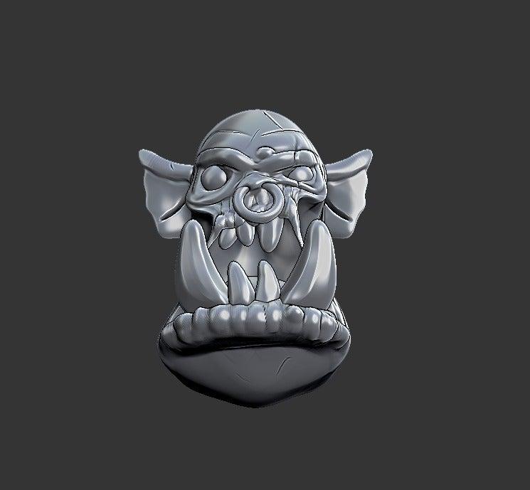 3722c911e14a52d727395e61e51b73dc_display_large.jpg Download free STL file Miniature - Ork Heads (Heroic Scale) (2016) • 3D printing object, whackolantern
