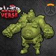 roadhog.png Download free STL file Keshiverse - Roadhog (Overwatch) • 3D printer design, whackolantern