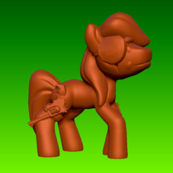 pony_1.png Download free STL file Toy - My Apocalypse Pony - Eyepatches • Template to 3D print, whackolantern
