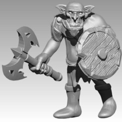 Download free STL files Miniature - Orc 1 (2017), whackolantern