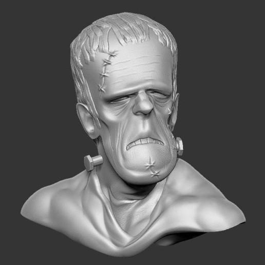 35a83e35bcb8e32cb42268e78d090245_display_large.jpg Download free STL file Misc. - Frankenstein Bust (Halloween 2016) • 3D printer design, whackolantern