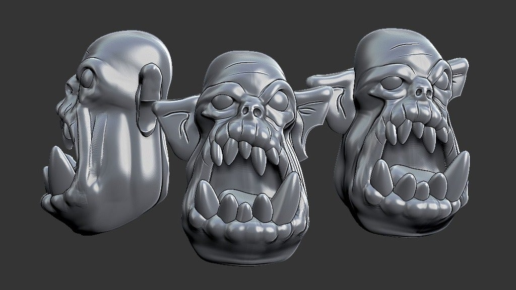 b78134dbf27537abb42a34887fe32a61_display_large.jpg Download free STL file Miniature - Ork Heads (Heroic Scale) (2016) • 3D printing object, whackolantern