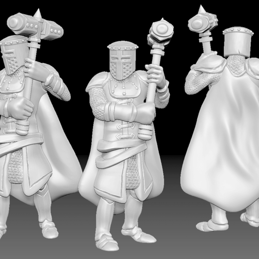 Knight_2.png Download free STL file Miniature - Knight 2 (2017) • 3D printer model, whackolantern