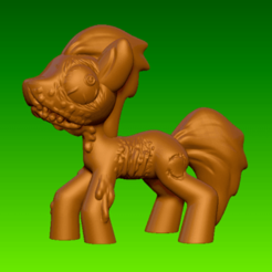 zp1.png Télécharger fichier STL gratuit Jouet - My Apocalypse Pony - Rottendash • Plan imprimable en 3D, whackolantern