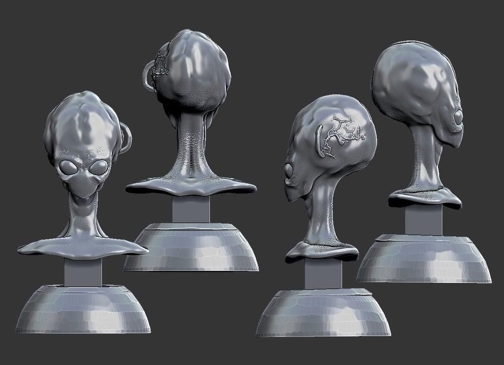 fb5c81ed3a220004b71069645f112867_display_large.jpg Download free STL file Misc. - Alien Bust (2016) • 3D print model, whackolantern