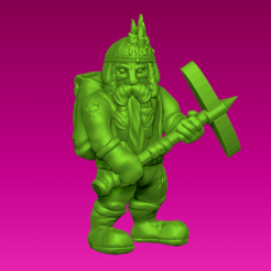 Download free 3D printer designs Miniature - Dwarf Miner 2 (2017), whackolantern
