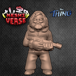 Download free 3D print files Keshiverse - Macready (The Thing), whackolantern