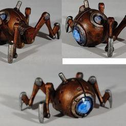 Télécharger fichier imprimante 3D gratuit 1-54 - L'araignée mécanique, GarinC3D