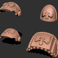 Download free STL file Winged Opals - Marine Upgrade Pack • 3D printer model, GarinC3D