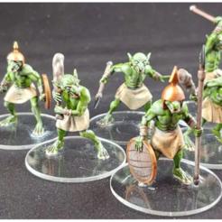 G.png Download free OBJ file 1-54 - Goblins - Squad 1 • 3D printer design, GarinC3D